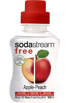 SODASTREAM Free apple and peach flavoured drink mix 500ml
