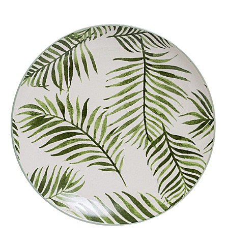 BLOOMINGVILLE Pacific Jade stoneware plate