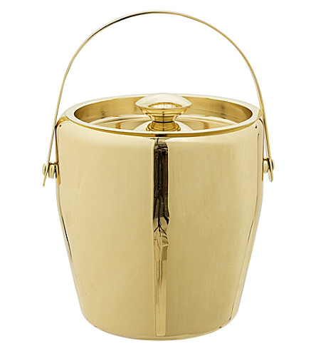 BLOOMINGVILLE Gold-toned stainless steel ice bucket