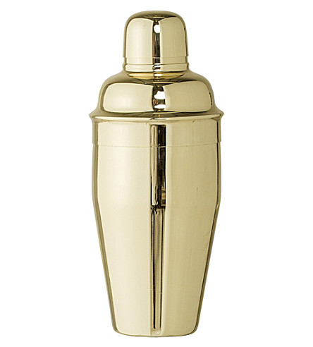 BLOOMINGVILLE Gold-toned stainless steel cocktail shaker