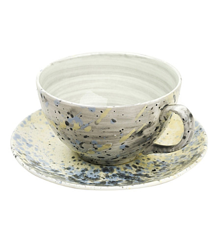 MARTYN THOMPSON Accidental Expressionist fine bone china cup and saucer