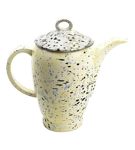 MARTYN THOMPSON Yellow Splatter hand-glazed bona china tea set