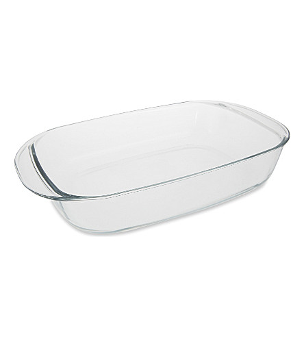 DURALEX Rectangular glass roasting tray 38cm