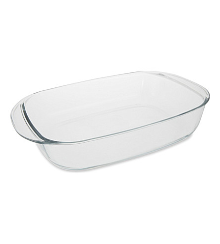 DURALEX Rectangular glass roasting tray 41cm