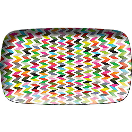 FRENCH BULL Zig-zag print rectangle platter 135 x 8cm