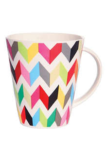 FRENCH BULL Zig-zag print tall mug
