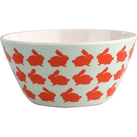 ANORAK Kissing rabbits melamine bowl