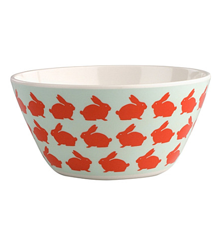 ANORAK Kissing rabbits melamine bowl