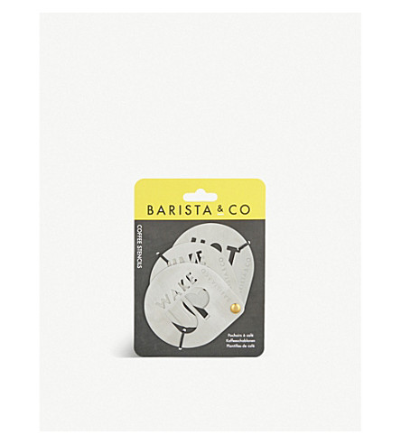 BARISTA & CO Cocoa stencils 3-pack
