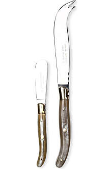 Lagiole light horn cheese knife set