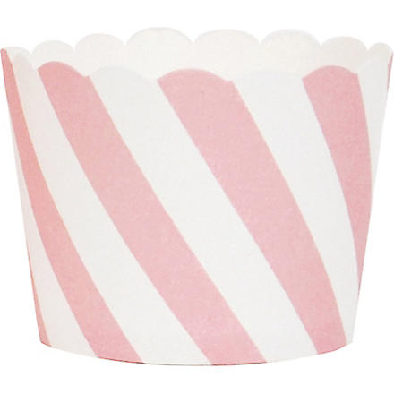 25 striped cupcake liners