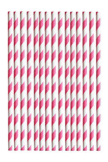 25 striped straws