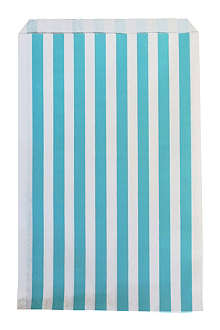 My Little Day Pack of 10 blue striped paper bags