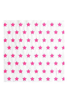 20 star printed napkins
