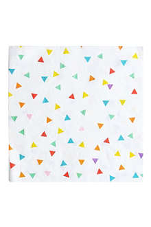 20 multicoloured triangle napkins