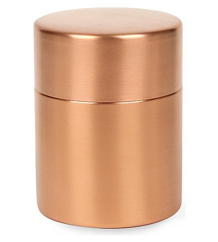 AZMAYA Copper tea canister