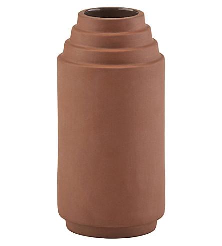 SKAGERAK Edge terracotta vase 16cm