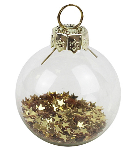 GINGER RAY Place card holder baubles, gold, set of six