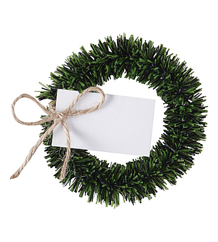 GINGER RAY Ginger Ray wreath foliage place card