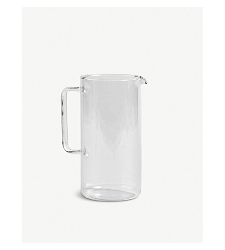 HAY Clear glass jug 1L