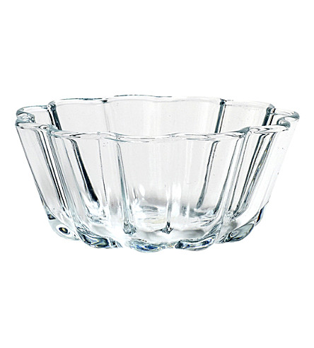 HAY Glass fluted bowl