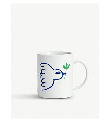 干草鸽瓷杯子