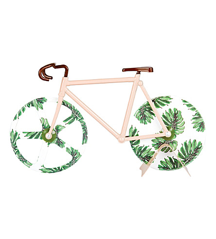 DOIY Fixie tropical stainless steel pizza cutter