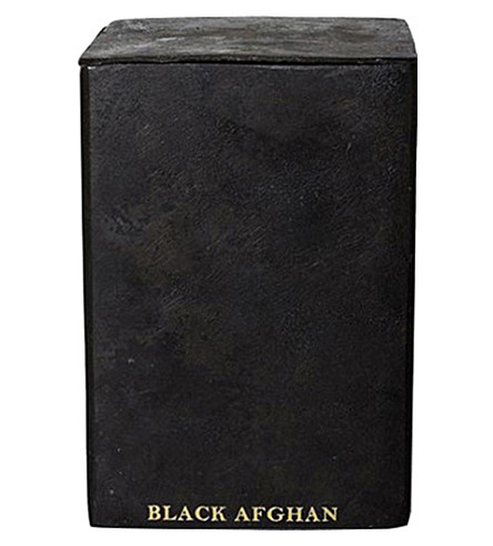 MAD ET LEN Bougie Fumiste Black Afghan square iron candle 300g