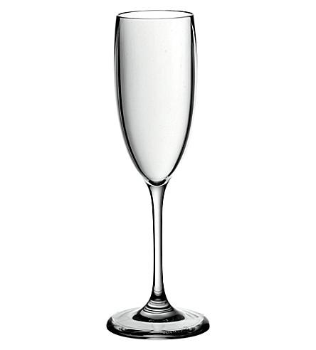 GUZZINI Happy Hour plastic champagne flute 100ml (Clear
