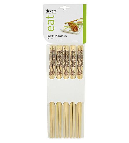 DEXAM Bamboo chopsticks - 10 pairs