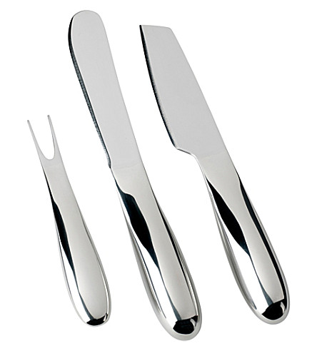 NUANCE Stainless steel 3-piece cheese set