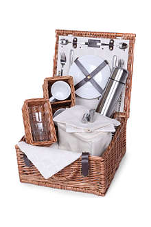 Naturals Tea two-person picnic hamper