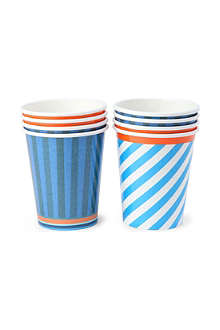 TALKING TABLES Blue party cups set of eight