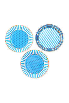 TALKING TABLES Blue party plates set of eight