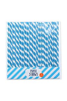 TALKING TABLES Blue party straws set of 30