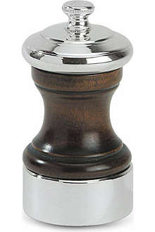 PEUGEOT Palace wood and silver-plated salt mill 10cm