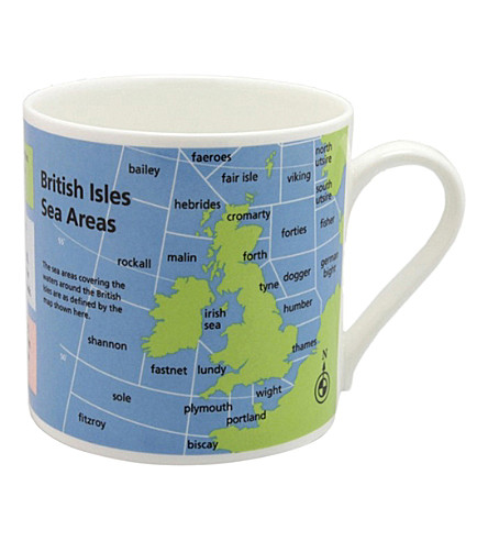 MCLAGGAN SMITH Sea areas of British Isles mug
