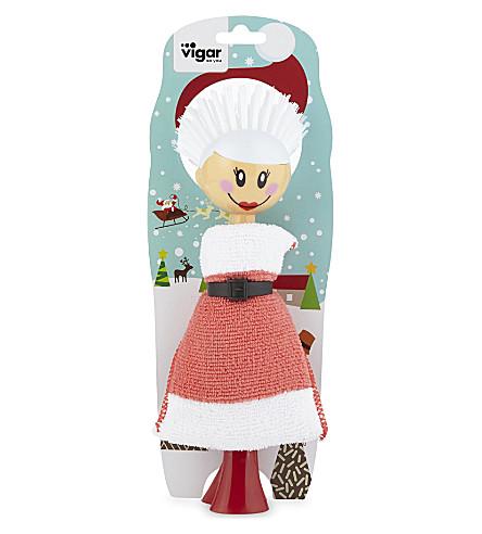 EDDINGTONS 夫人圣诞老人洗碗刷和海绵套