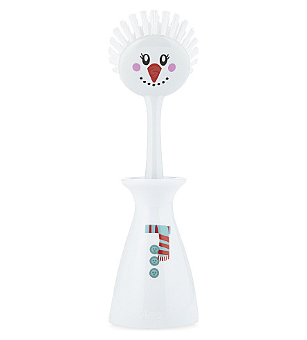 EDDINGTONS Christmas Snowman dish brush