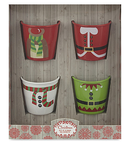 EDDINGTONS Christmas egg cups set of 4