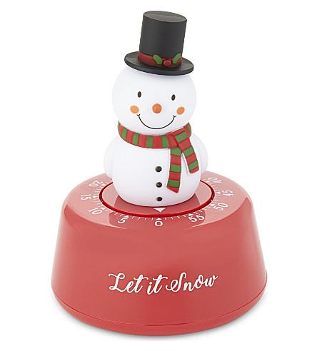 EDDINGTONS Snowman Christmas kitchen timer