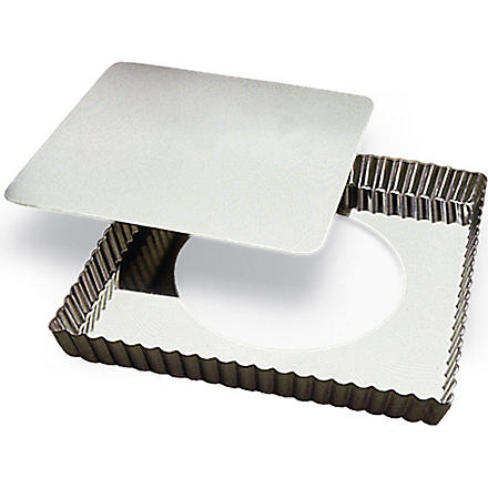 Square tart tin with a loose base 23 x 23cm