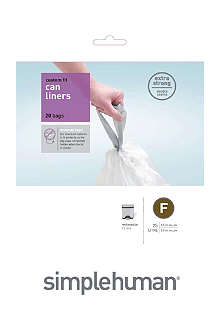 SIMPLEHUMAN Custom fit pack of 20 bin liners 25L code F