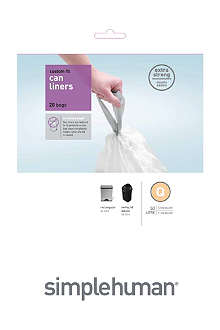 SIMPLEHUMAN Custom fit pack of 20 bin liners 50L code Q