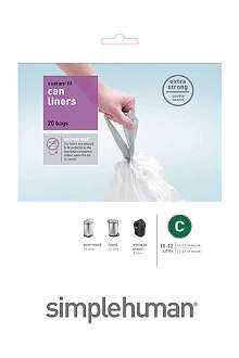 SIMPLE HUMAN Custom fit pack of 24 bin liners 10-12L code C