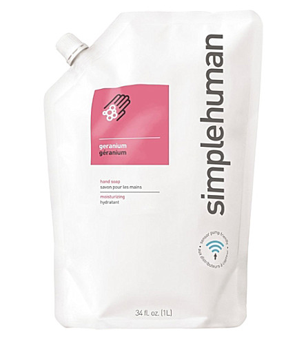 SIMPLE HUMAN Geranium scented soap refill pouch 1L