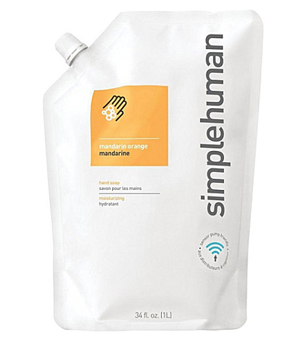 SIMPLE HUMAN Mandarin orange scented soap refill pouch 1L