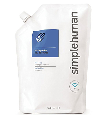 SIMPLE HUMAN Spring water scented soap refill pouch 1L