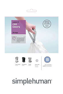 SIMPLE HUMAN Custom fit pack of 30 bin liners 6L code B