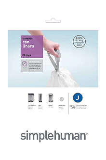 SIMPLEHUMAN Custom fit pack of 20 bin liners 38-40L code J